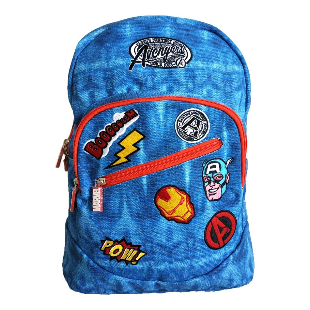 Avengers Blue Canvas Backpack -My Baby Excels - India - www.superherotoystore.com