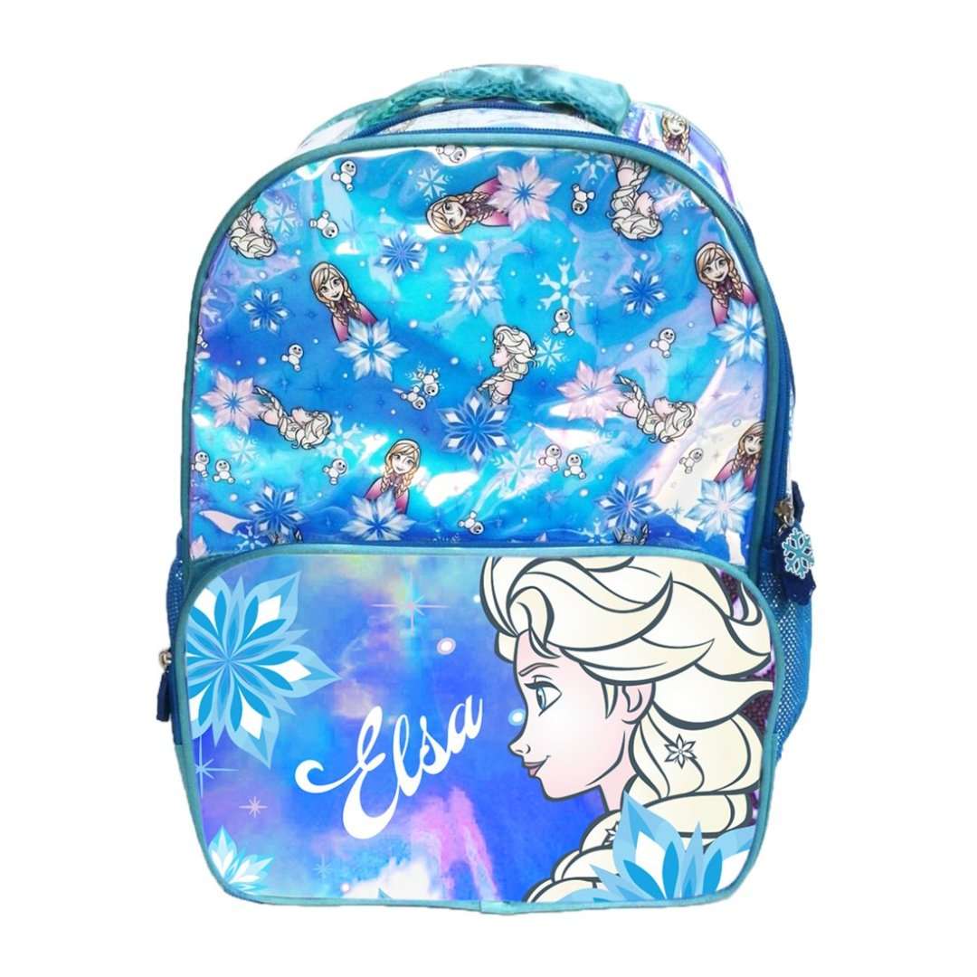Frozen Elsa Holographic Backpack -My Baby Excels - India - www.superherotoystore.com