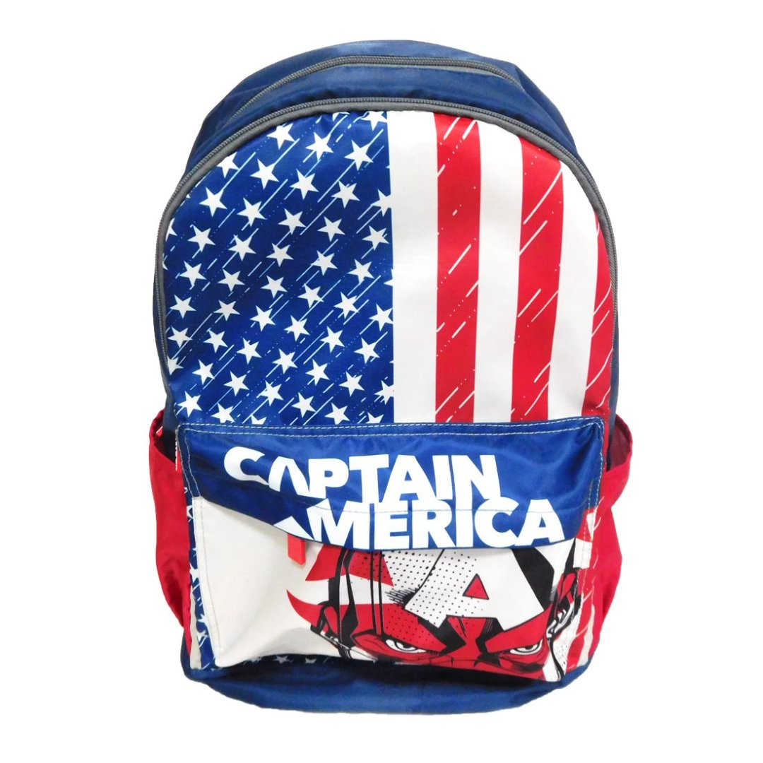 Captain America White Backpack -My Baby Excels - India - www.superherotoystore.com