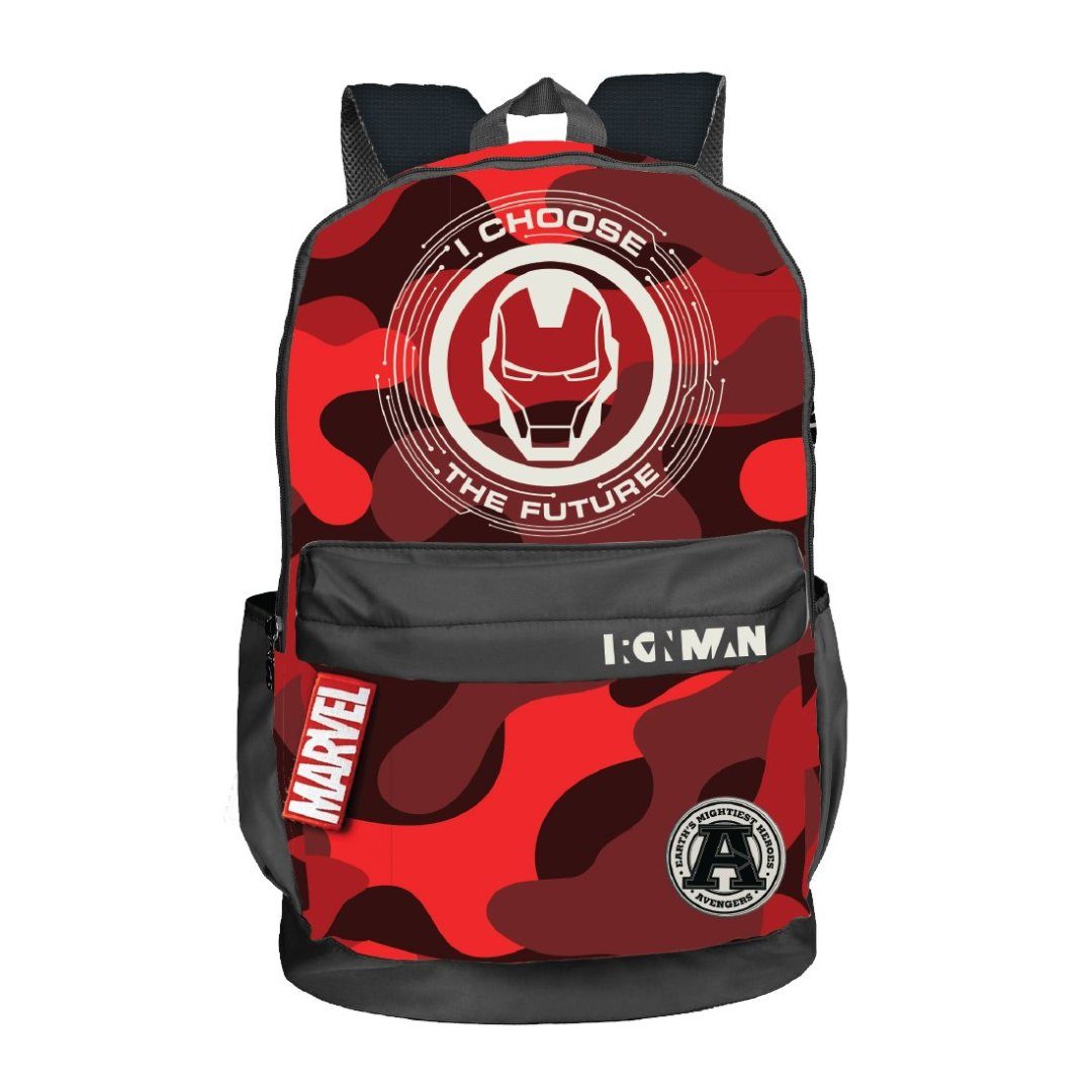 Iron Man Camo Backpack -My Baby Excels - India - www.superherotoystore.com