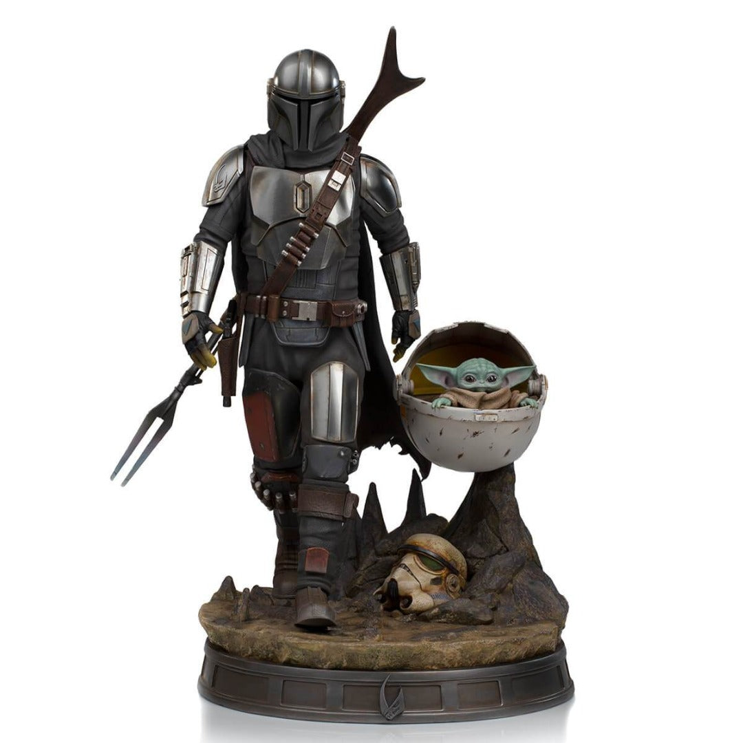 Star Wars The Mandalorian And The Child 1/4th Scale Statue by Iron Studios -Iron Studios - India - www.superherotoystore.com