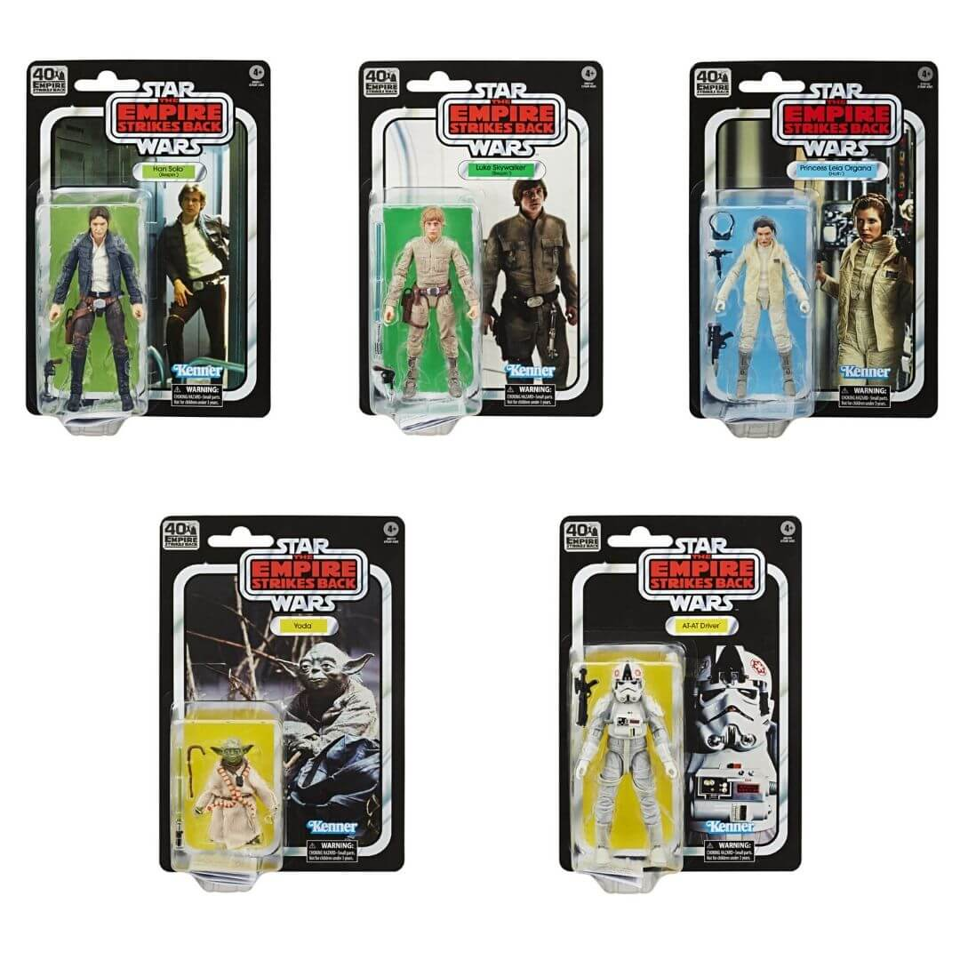Star Wars Black Series Empire Strikes Back 40th Anniversary Wave 1 by Hasbro -Hasbro - India - www.superherotoystore.com