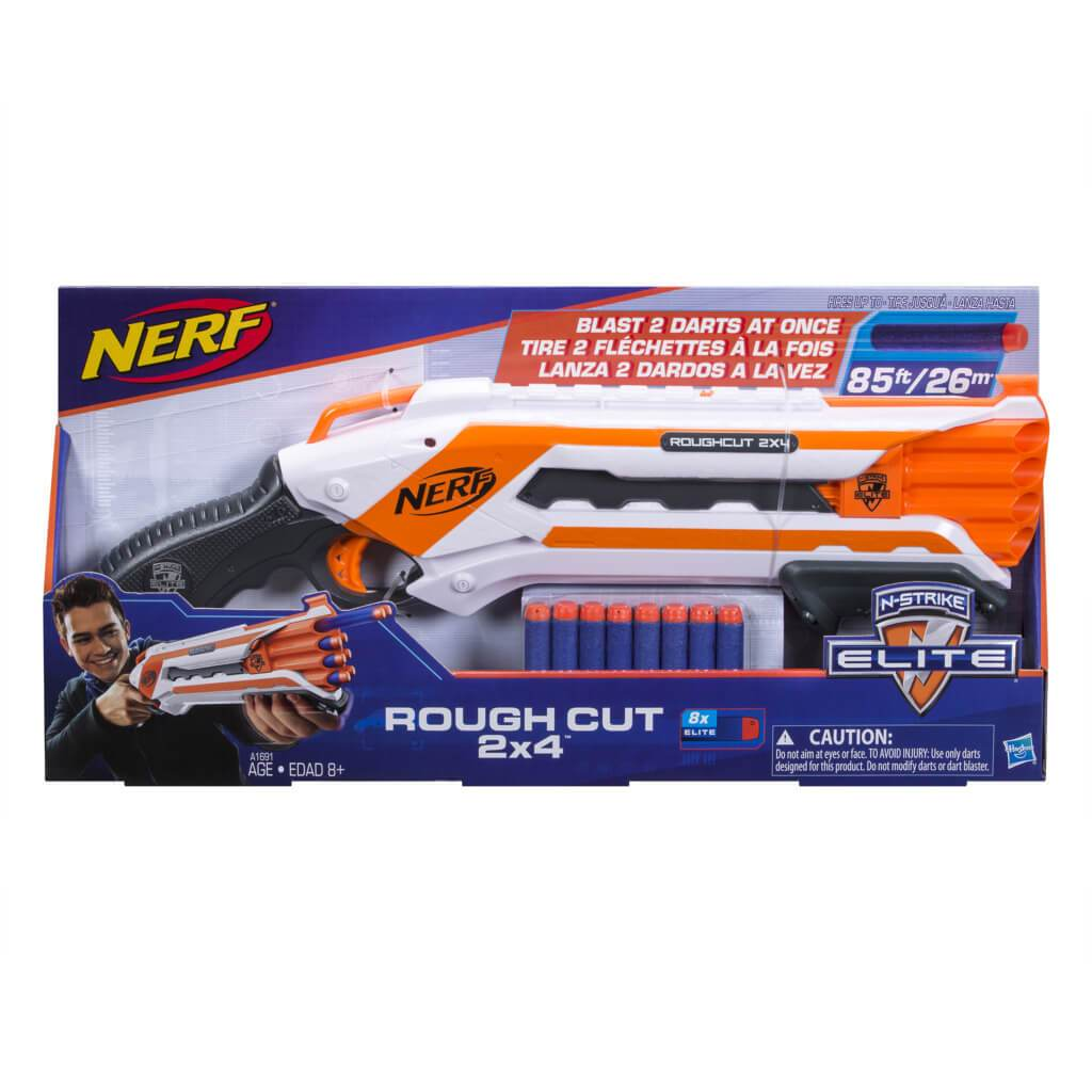 Nerf N-Strike Elite Rough Cut 2X4 Blaster by Hasbro