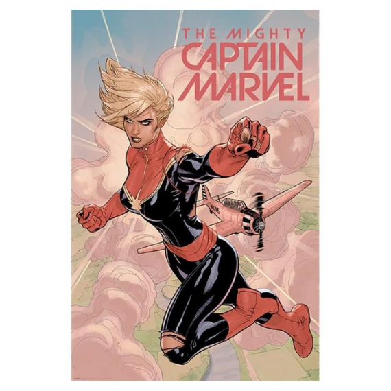 Captain Marvel Comic Poster -Superherotoystore.com - India - www.superherotoystore.com