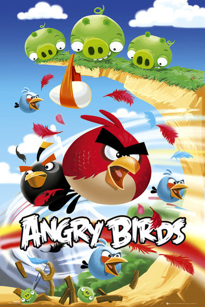 Angry Birds Pile Up Maxi Poster-Superherotoystore.com- www.superherotoystore.com-Posters