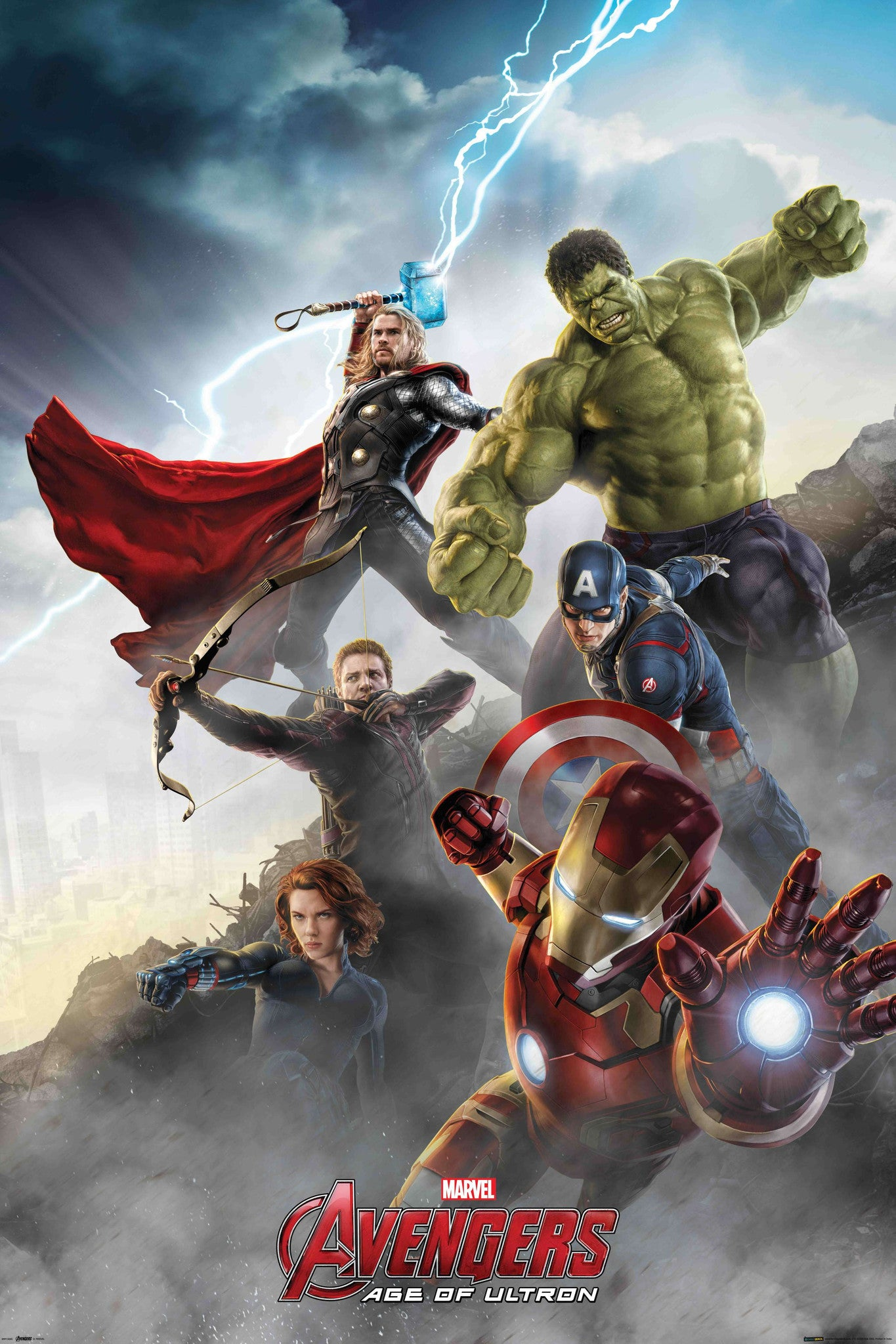 The Avengers (Cast - Collage) 2-Superherotoystore.com- www.superherotoystore.com-Posters