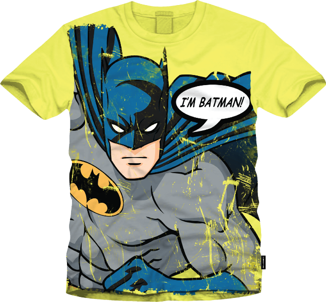 Batman Lemon Drop Tshirt by Bio World-Bio World- www.superherotoystore.com-T-Shirt - 1