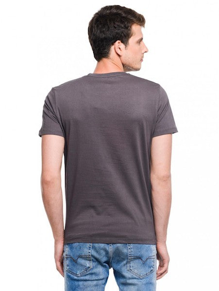 Captain America Dark Grey Half Sleeve T-Shirt by Bio World-Bio World- www.superherotoystore.com-T-Shirt - 2