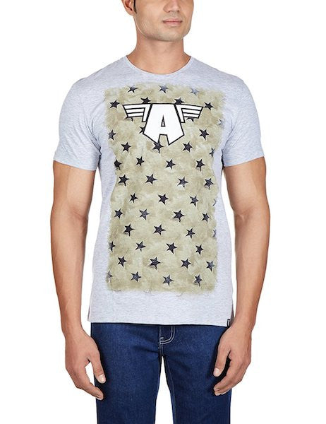 Captain America Grey Half Sleeve T-Shirt by Bio World-Bio World- www.superherotoystore.com-T-Shirt - 1