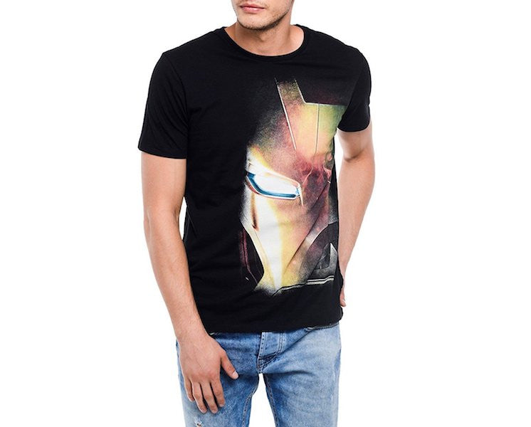 Civil War Iron Man Black Half Sleeve T-Shirt by Bio World