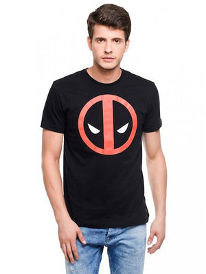 Deadpool Sign Black Colour Crew Neck Half Sleeve T-Shirt by Bio World-Bio World- www.superherotoystore.com-T-Shirt - 1