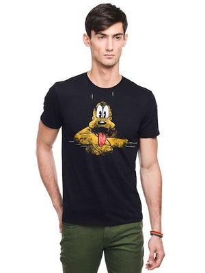 Goofy Black Colour Half Sleeve T-Shirt by Bio World-Bio World- www.superherotoystore.com-T-Shirt - 1