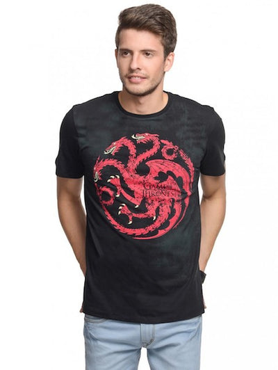 Game of Thrones Black Half Sleeve T-Shirt by Bio World-Bio World- www.superherotoystore.com-T-Shirt - 1