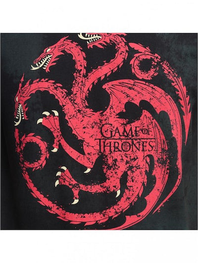 Game of Thrones Black Half Sleeve T-Shirt by Bio World-Bio World- www.superherotoystore.com-T-Shirt - 2