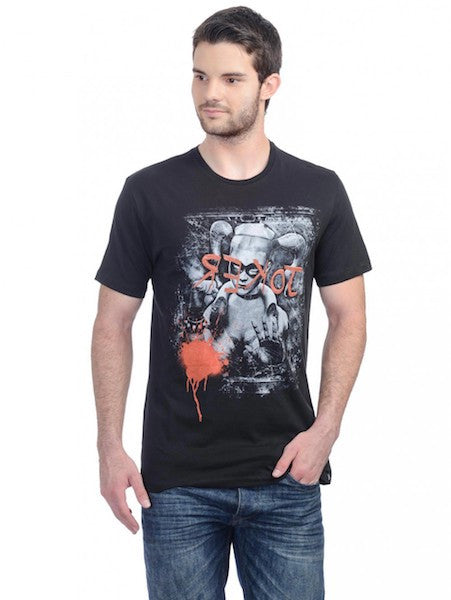Harley Quinn Black Half Sleeve T-Shirt by Bio World-Bio World- www.superherotoystore.com-T-Shirt - 1