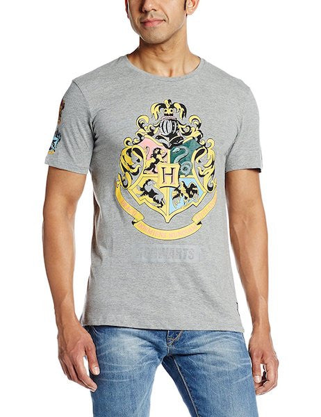 Harry Potter Slate Melange Half Sleeve T-Shirt by Bio World-Bio World- www.superherotoystore.com-T-Shirt - 1