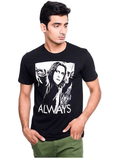 Harry Potter Always Black Half Sleeve T-Shirt by Bio World-Bio World- www.superherotoystore.com-T-Shirt - 1
