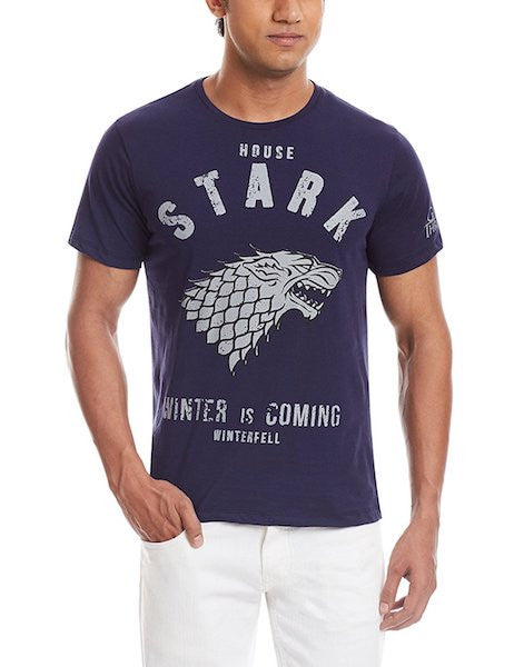 GOT House Stark Half Sleeve T-Shirt by Bio World-Bio World- www.superherotoystore.com-T-Shirt - 1
