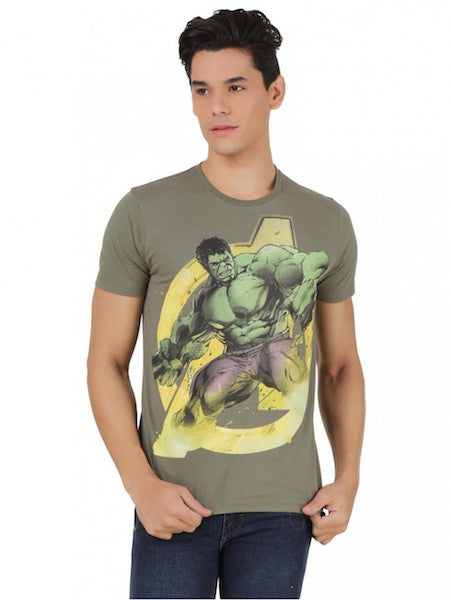 Hulk Ivory Green Half Sleeve T-Shirt by Bio World-Bio World- www.superherotoystore.com-T-Shirt - 1