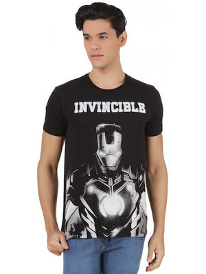 Invincible Iron Man Black Half Sleeve T-Shirt by Bio World-Bio World- www.superherotoystore.com-T-Shirt - 1