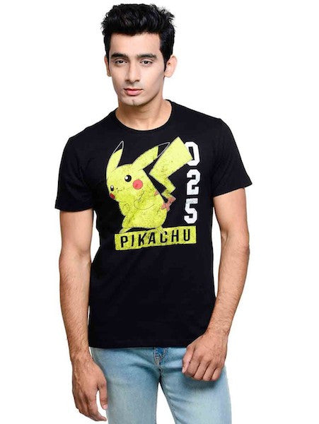 Pokemon Black Half Sleeve T-Shirt by Bio World -Bio World - India - www.superherotoystore.com