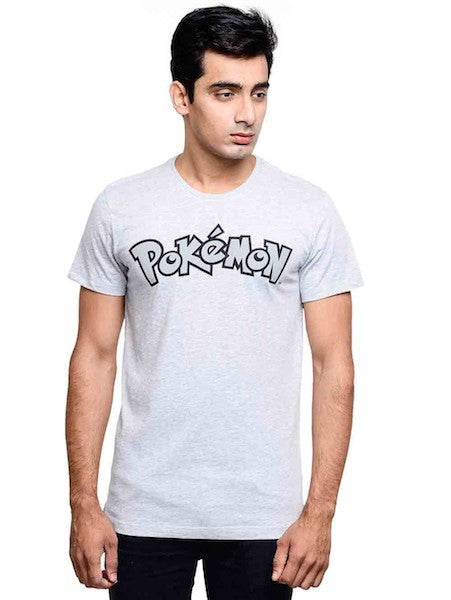 Pokemon Grey Half Sleeve T-Shirt by Bio World -Bio World - India - www.superherotoystore.com