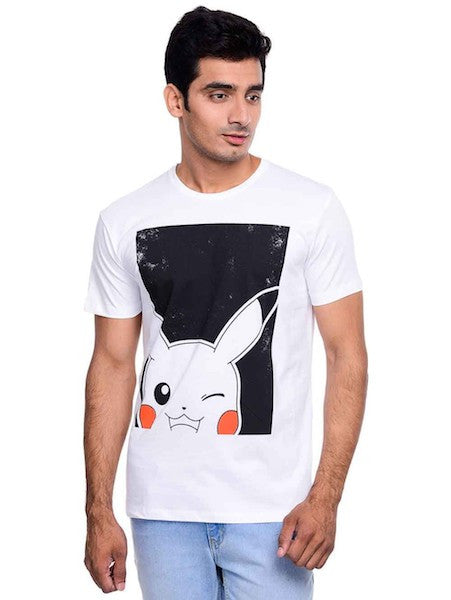 Pokemon White Half Sleeve T-Shirt by Bio World -Bio World - India - www.superherotoystore.com