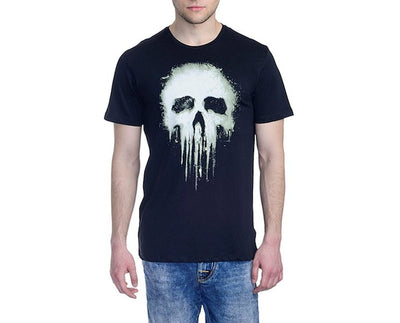 Punisher Black Colour Crew Neck Half Sleeve T-Shirt by Bio World