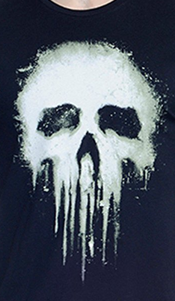 Punisher Black Colour Crew Neck Half Sleeve T-Shirt by Bio World -Bio World - India - www.superherotoystore.com