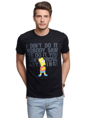Bart Simpsons Black Half Sleeve T-Shirt by Bio World-Bio World- www.superherotoystore.com-T-Shirt - 1
