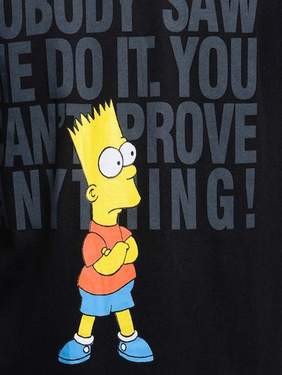 Bart Simpsons Black Half Sleeve T-Shirt by Bio World-Bio World- www.superherotoystore.com-T-Shirt - 2