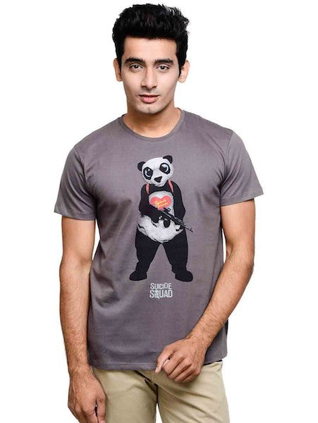 Suicide Squad Panda Half Sleeve T-Shirt by Bio World now available ... 2acec2e1b5d