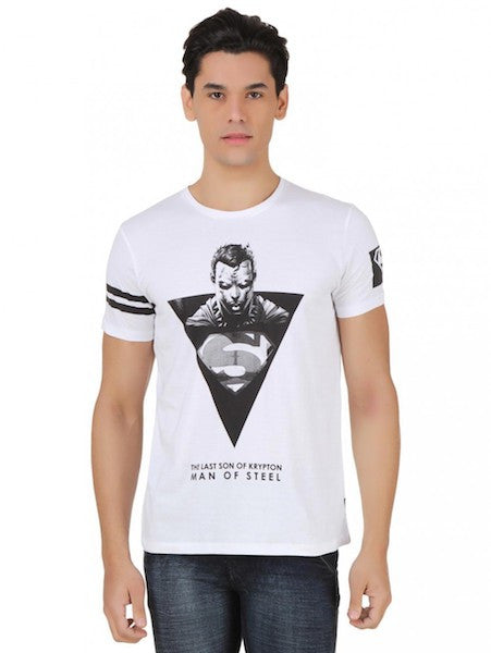 Superman White Colour Half Sleeve T-Shirt by Bio World-Bio World- www.superherotoystore.com-T-Shirt - 1