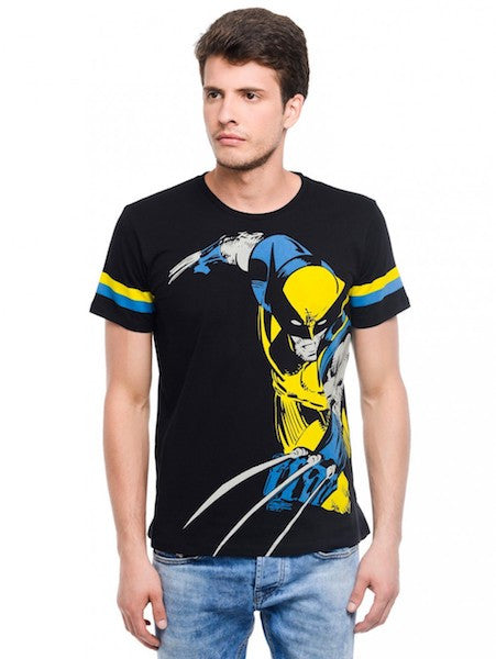 Wolverine Black Half Sleeve T-Shirt by Bio World -Bio World - India - www.superherotoystore.com