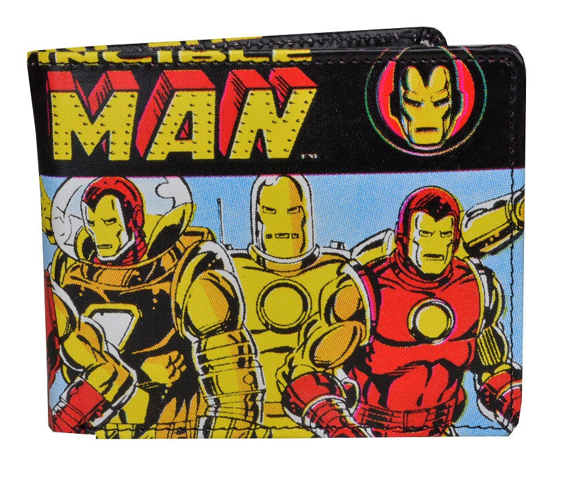 The Invinvincible Iron Man Bi-Fold Wallet-Bombaymerch- www.superherotoystore.com-Wallet - 1