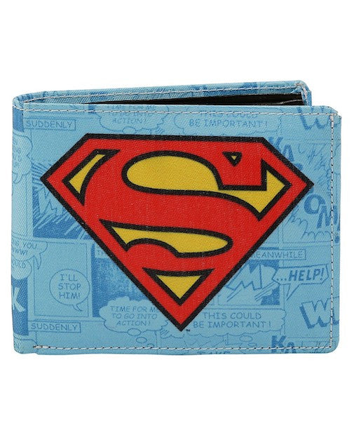 Superman Logo Bi-Fold Wallet by Bombay Merch
