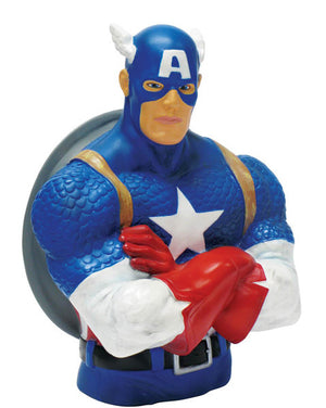 Captain America Bust Bank-Monogram International- www.superherotoystore.com-Action Figure - 2