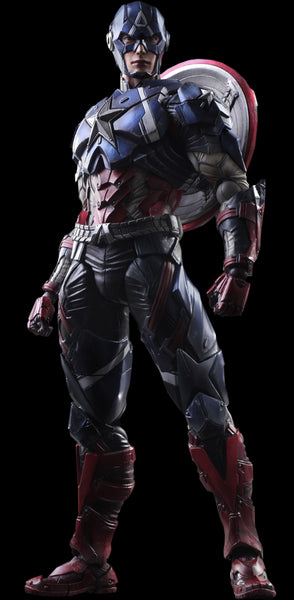 Marvel Universe Captain America Variant Play Arts Kai Figure by Square Enix-Square Enix- www.superherotoystore.com-Action Figure - 1