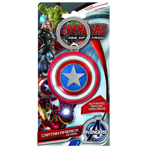 Captain America Shield Pewter Key Chain-Monogram International- www.superherotoystore.com-Keychains - 1