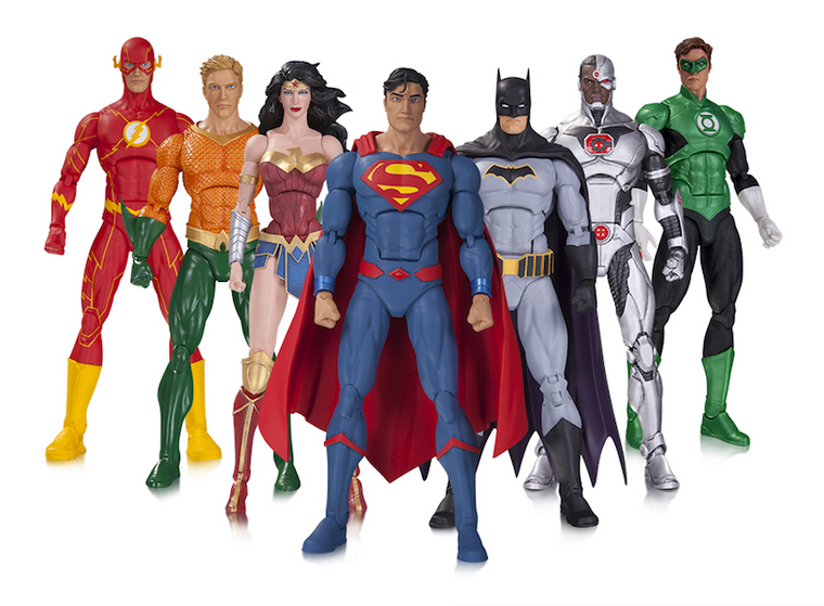 Justice League Rebirth Action Figure 7 Pack by DC Collectibles
