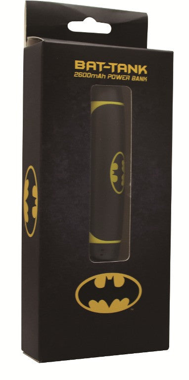 Batman Power Bank 2600mAh Black-Thrumm- www.superherotoystore.com-Power Banks - 2