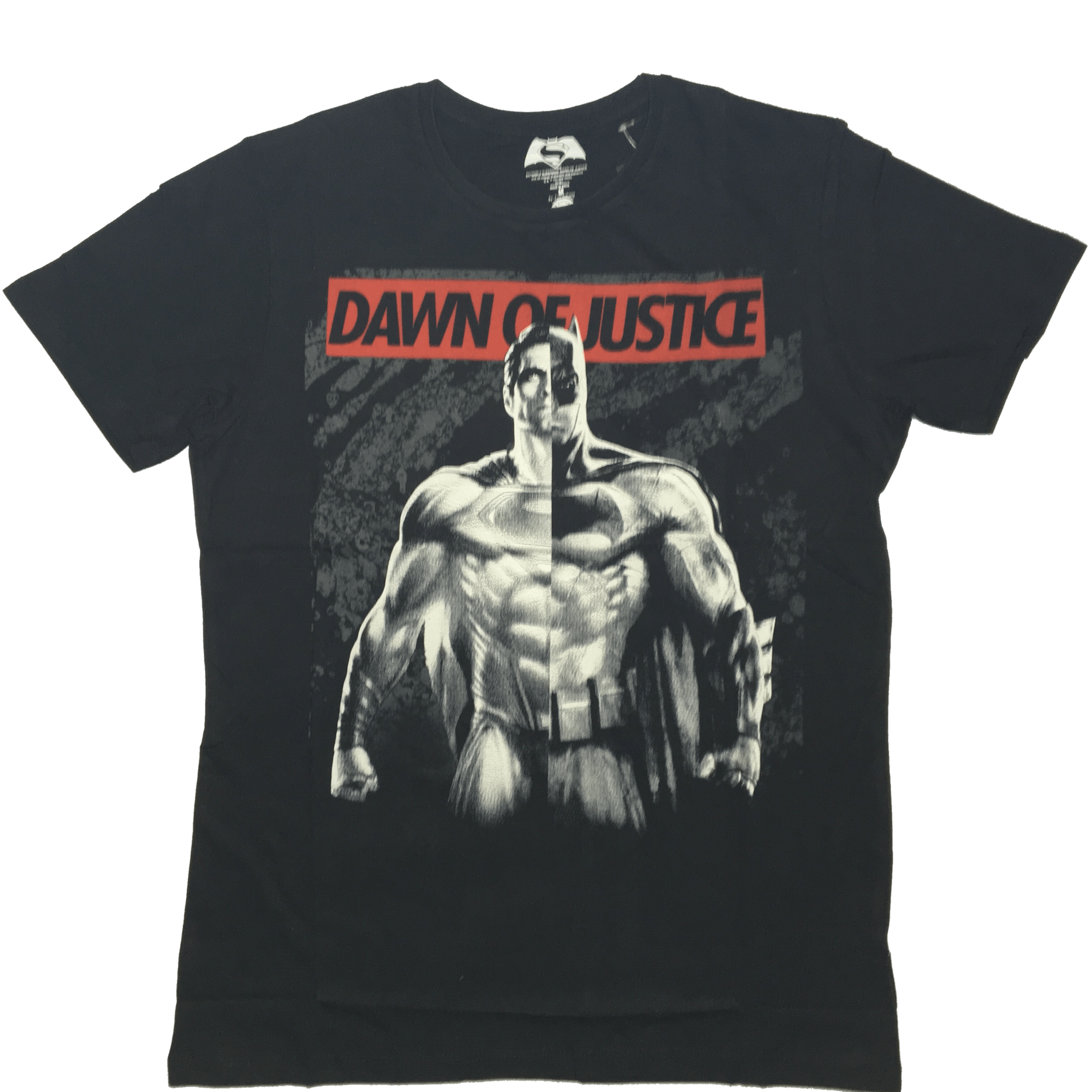 Dawn of Justice Batman & Superman Black T-Shirt by Bio World -Bio World - India - www.superherotoystore.com