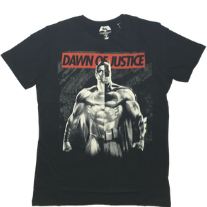 Dawn of Justice Batman & Superman Black T-Shirt-Bio World- www.superherotoystore.com-T-Shirt - 1