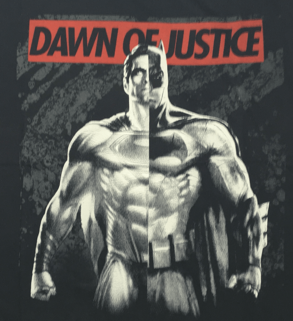 Dawn of Justice Batman & Superman Black T-Shirt-Bio World- www.superherotoystore.com-T-Shirt - 2