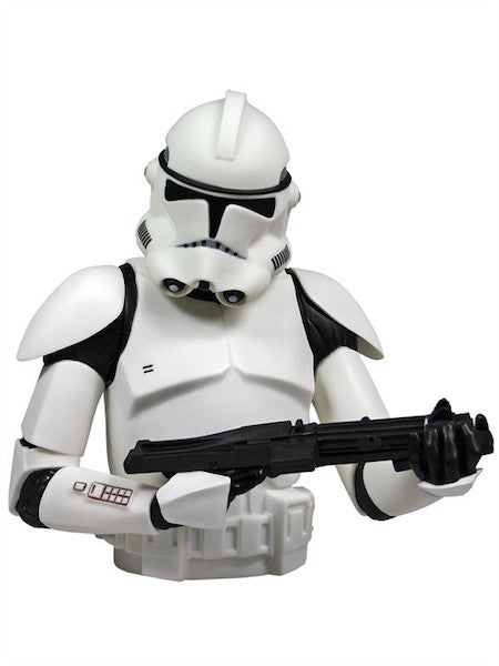 Clone Trooper Bust Bank by Diamond Select Toys-Diamond Select toys- www.superherotoystore.com-Bust Bank