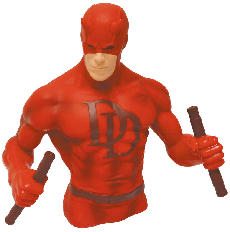 Daredevil Red Version Bust Bank-Diamond Select toys- www.superherotoystore.com-Action Figure