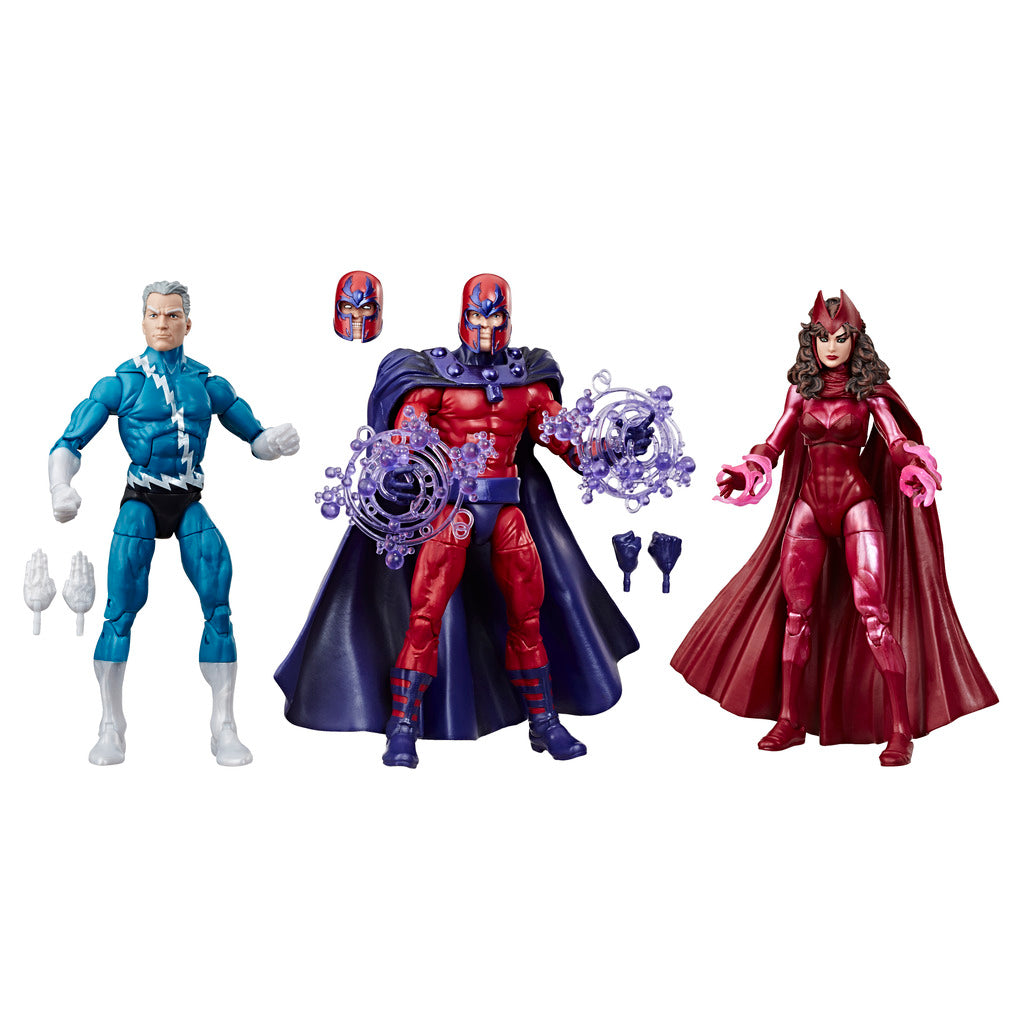 X-Men Magneto, Scarlet Witch & Quick Silver Marvel Legends 3 Pack by Hasbro