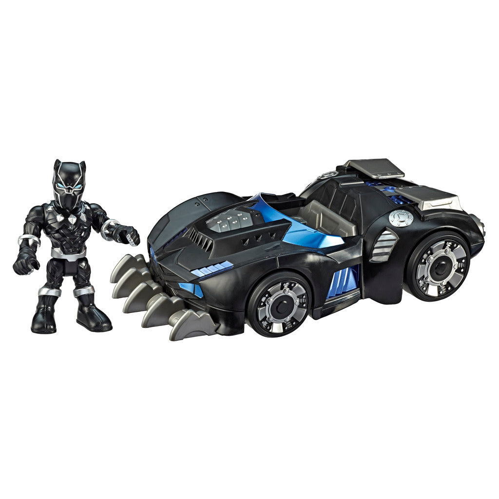 Superhero Adventures Black Panther & Road Racer Figure By Hasbro