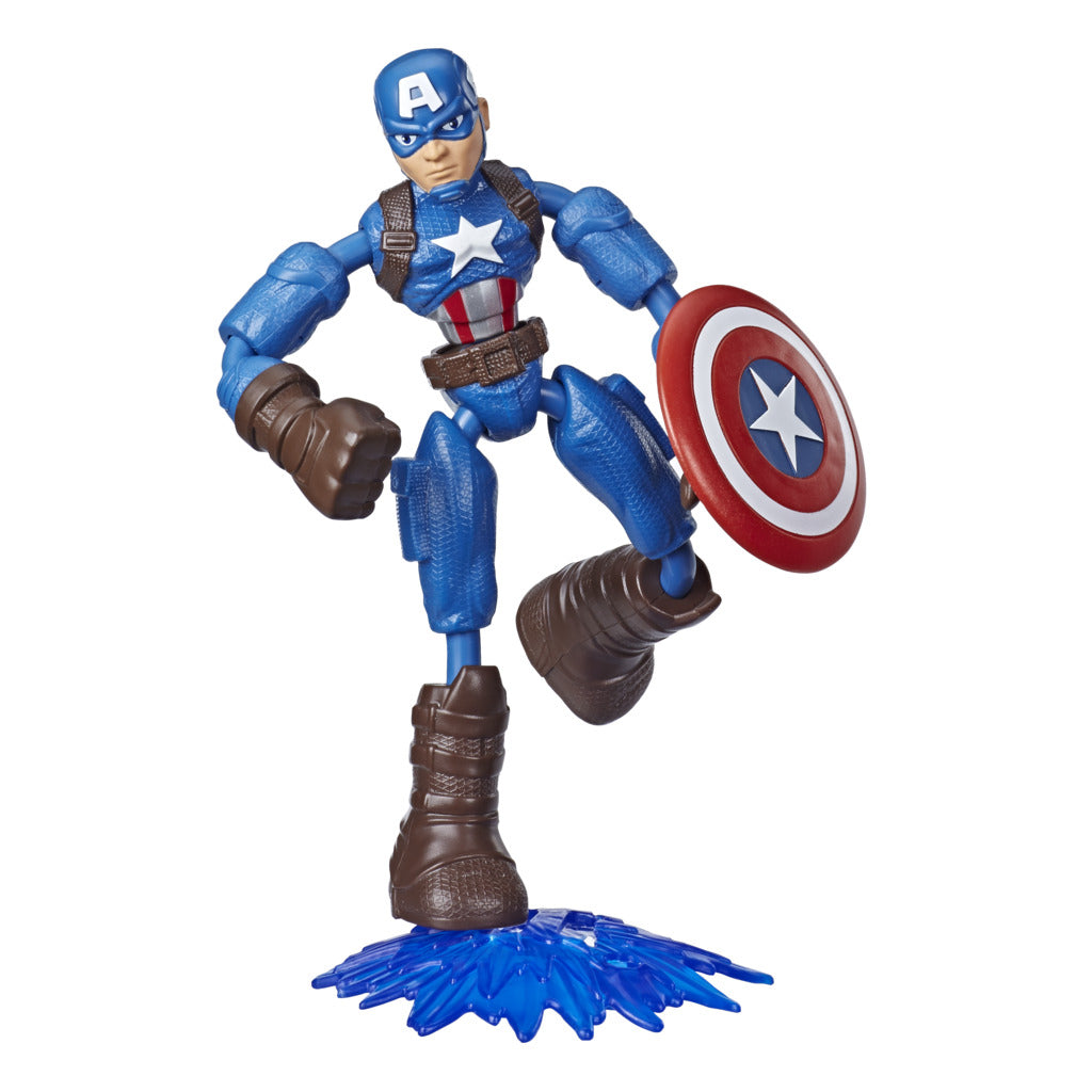 Avengers Bend & Flex Captain America Figure by Hasbro -Hasbro - India - www.superherotoystore.com