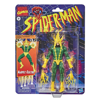Spiderman Retro Collection Electro Marvel Legends Figure by Hasbro -Hasbro - India - www.superherotoystore.com